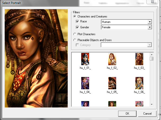 How to change npc party portrait using nwn explorer or any